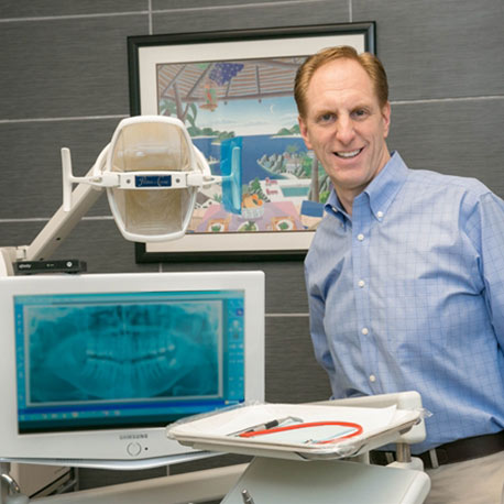 Dr. Seth Hammer and some of the technology we use at Hammer Dental Associates